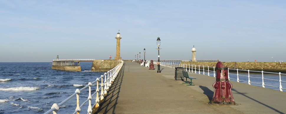 pier at whitby harbour